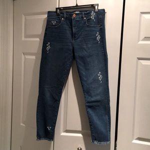 Loft crop blue jeans